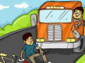 提醒!路上晒麦出事故,将承担法律责任!