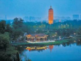 """北京通州""""三庙一塔""""年底""""亮""""相运河畔"""